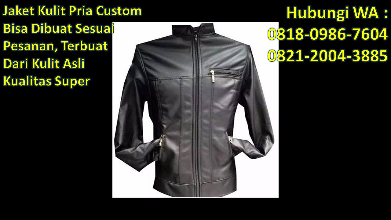 Tempat jual beli jaket kulit di bandung WA   0818-0986-7604 Telp    0821-2004-3885 Informasi Foto jaket kulit priaJaket kulit pria hitam c97a49ea0a